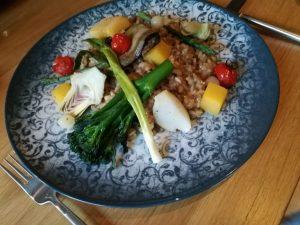 Vegan risotto bij restaurant Proevens Groningen