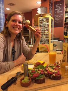 Sonja luncht bij Bij Britta Groningen