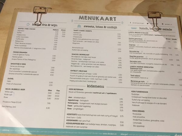 Denderz: kindvriendelijk restaurant groningen