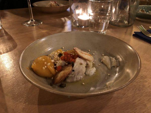 Achterwerk Groningen: vis eten in restaurant Groningen Oosterstraat