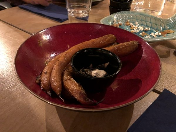 Achterwerk Groningen: wortels eten in restaurant Groningen Oosterstraat