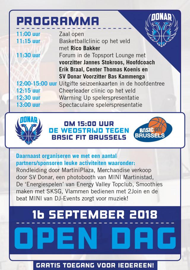 Open dag Donar Groningen 16 september