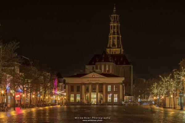 Vismarkt winterlichtjes - foto door Wil de Boer - fotowandeling Groningen