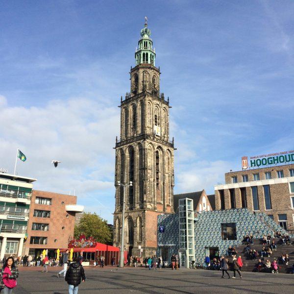 Lunchen in restaurant Grand café Hooghoudt aan de Grote Markt Groningen