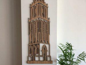 Martinitoren eikenhout - voor aan de muur