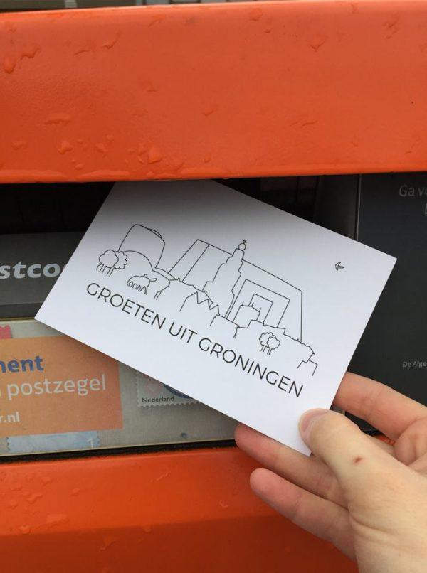 Ansichtkaarten Groningen: analoge groeten uit Groningen, foto Jose Smeenge