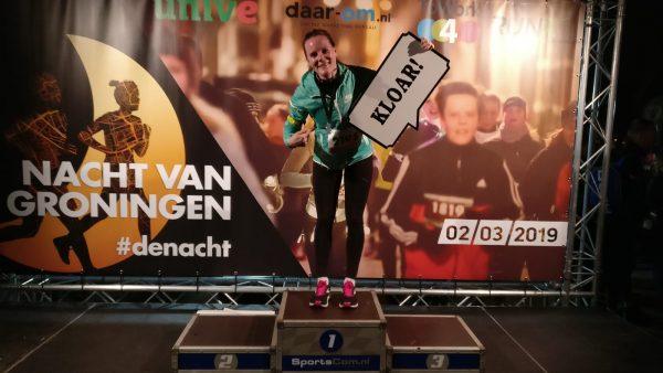 Nacht van Groningen 2019: Hardloopwedstrijd Groningen binnenstad finish van Albertha