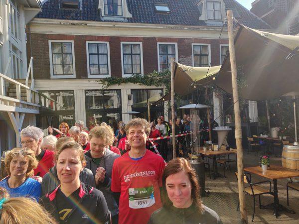 KLM Urban Trail Groningen- hardlopen tijdens hardloopwedstrijd door Hotel Schimmelpenninck Huys Groningen
