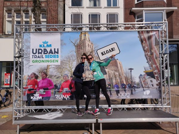 KLM Urban Trail Groningen - finish hardloopwedstrijd Groningen