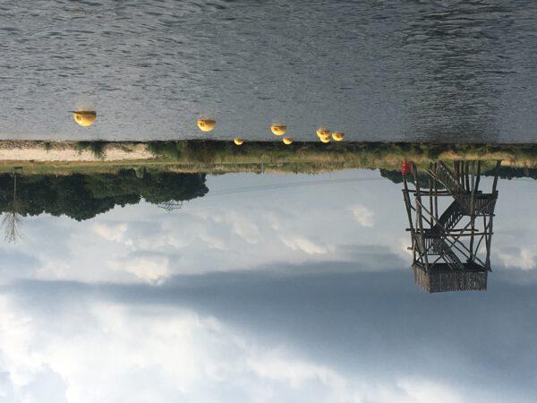 Een van de leukste vaarroutes Groningen: varen in Meerstad, o.a. langs uitkijktoren