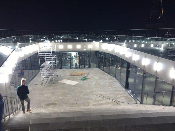NOK: skybar en restaurant Forum Groningen. Uitzicht tijdens sneak peak nov 2019