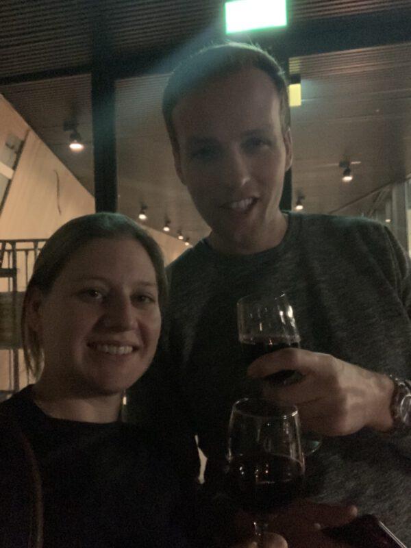 NOK: skybar en restaurant Forum Groningen. wijn borrel tijdens sneak peak nov 2019