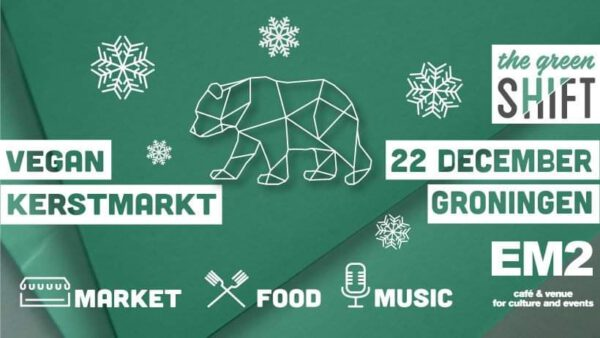 Vegan kerstmarkt Groningen 2019 - Facebookfoto The Green Shift