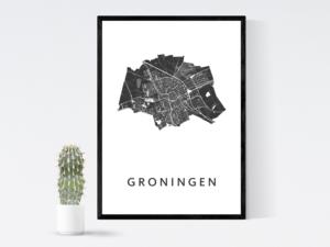 KunstinKaart Groningen op poster Groningen- Cadeauwinkel webshop Groningen
