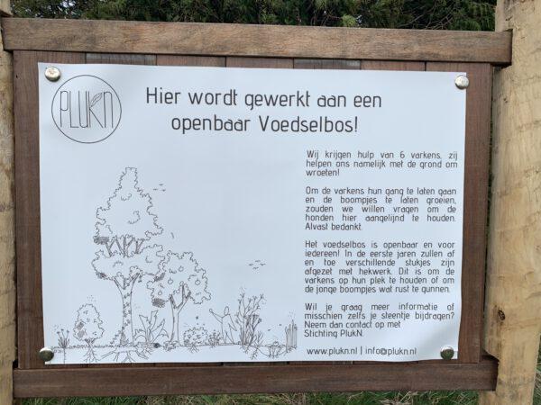 Wandelen langs Voedselbos Westpark Groningen- duurzaam project PlukN
