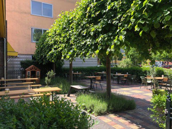 Koffie Groningen: terras stadsrestaurant het oude politiebureau foto Facebookpagina