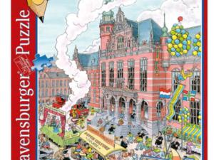 Puzzel Groningen met Academiegebouw in Broerstraat